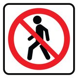 No Entry icon royalty free illustration