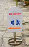 No entry Label. Royalty Free Stock Photography