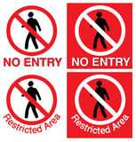 No entry & restricted area vector illustration