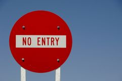 No Entry Road Sign Stock Image
