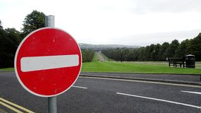 No Entry. Road sign, warning sign stock images
