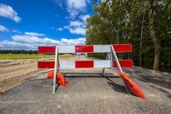 No entry roadblock Royalty Free Stock Photography