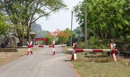 No entry with roadblock road Royalty Free Stock Photo