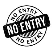 No Entry rubber stamp Royalty Free Stock Image