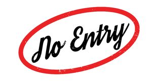 No Entry rubber stamp Stock Image