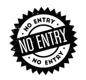 No Entry rubber stamp Royalty Free Stock Photo