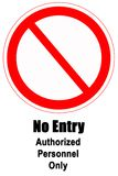 No Entry Sign. With icon vertical with words Royalty Free Stock Image