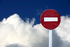 No entry sign stock images