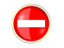 No entry sign. In a white background Royalty Free Stock Photo