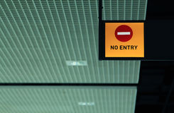 No entry sign. At an airport Royalty Free Stock Photography