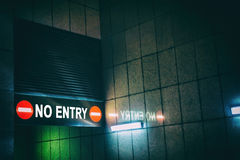 NO ENTRY Royalty Free Stock Images