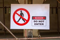 no entry sign. Stock Images