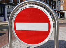 No entry sign, Hereford. Royalty Free Stock Photography