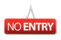 No entry sign illustration design Royalty Free Stock Images