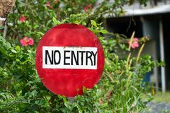 No entry sign. Sign No entry Private Property stock images