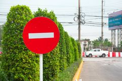 No entry sign in red royalty free stock photo