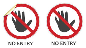 No Entry Sign. S in two vector styles depicting banned activities Royalty Free Stock Images