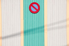 No Entry Sign On Wall Royalty Free Stock Photos