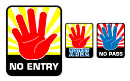 No Entry Symbol Icons Royalty Free Stock Photos