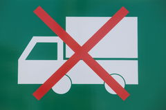 No entry truck traffic sign Royalty Free Stock Photography
