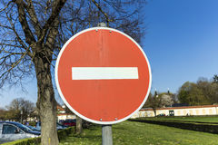 No entry for vehicles traffic sign Royalty Free Stock Photo
