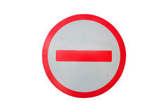 No Entry On White Background Stock Image
