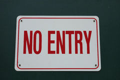 No Entry. A white No Entry sign Royalty Free Stock Photography