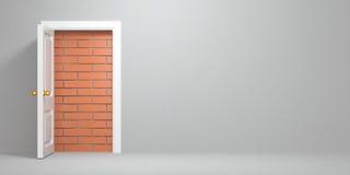 Free No Escape And Entrance. Doors Laid Bricks Stock Image - 22690021