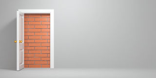 No escape and entrance. Doors laid bricks Stock Image