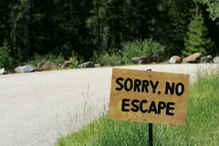 No Escape Sign Stock Photo