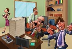 No escritório ilustração stock