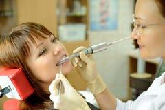 No escritório dental Foto de Stock