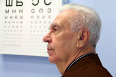 No escritório do especialista de olho Imagens de Stock