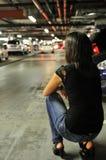 No esperar a nadie en aparcamiento subterráneo Imágenes de archivo libres de regalías