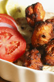 No espeto afegão da galinha - um prato de galinha feito da galinha grelhada Fotos de Stock