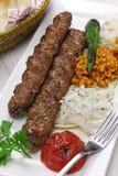 No espeto de Adana, alimento turco Imagem de Stock
