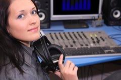 No estúdio imagem de stock