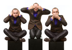 No evil (male version) royalty free stock image