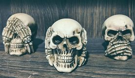 No evil skull stock photo