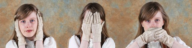 No evil woman Royalty Free Stock Photography