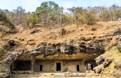 No excave ningún 4 en la isla de Elephanta cerca de Bombay, la India Fotografía de archivo libre de regalías