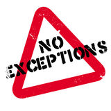 No Exceptions rubber stamp Royalty Free Stock Images