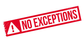 No Exceptions rubber stamp Stock Image