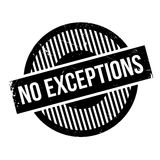 No Exceptions rubber stamp Royalty Free Stock Photo