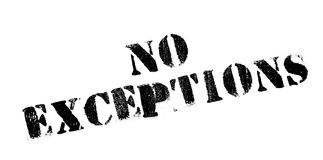 No Exceptions rubber stamp Royalty Free Stock Photos