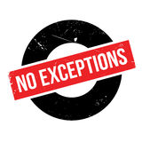 No Exceptions rubber stamp Stock Photography