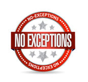 No exceptions seal illustration design Royalty Free Stock Image