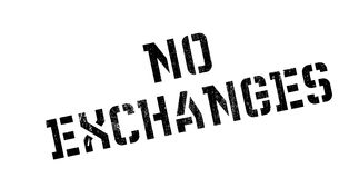 No Exchanges rubber stamp. Grunge design with dust scratches. Effects can be easily removed for a clean, crisp look. Color is easily changed Stock Photography