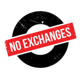 No Exchanges rubber stamp. Grunge design with dust scratches. Effects can be easily removed for a clean, crisp look. Color is easily changed Royalty Free Stock Photo