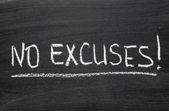 No excuses Stock Photo
